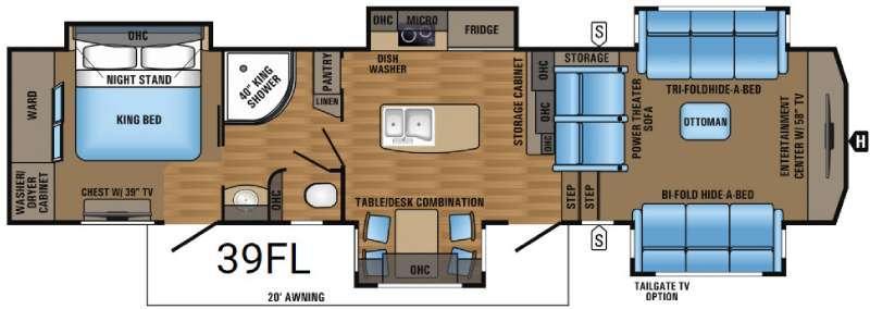 Designer 39FL Floorplan Image