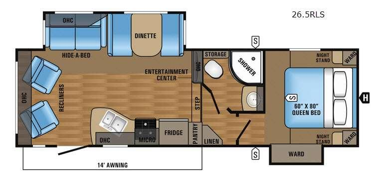 Eagle HT 26.5RLS Floorplan Image