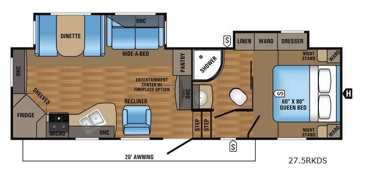Eagle HT 27.5RKDS Floorplan Image