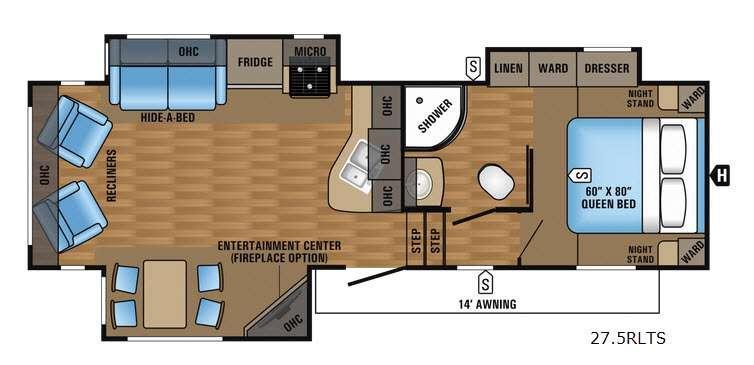 Eagle HT 27.5RLTS Floorplan Image