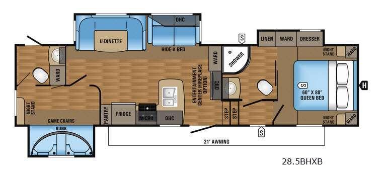 Eagle HT 28.5BHXB Floorplan Image