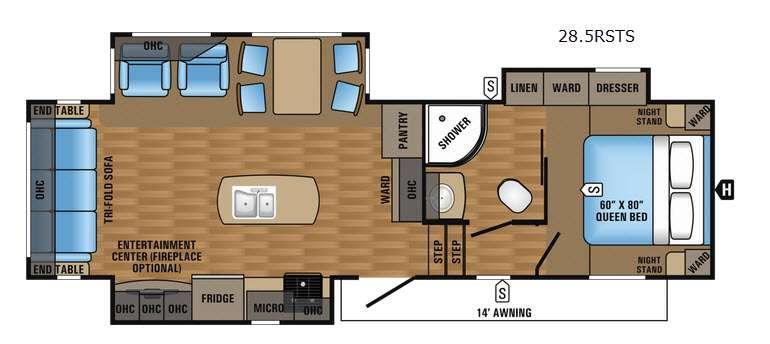 Eagle HT 28.5RSTS Floorplan Image