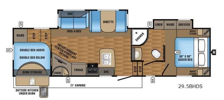Floorplan - 2017 Jayco Eagle HT 29.5BHDS