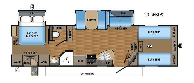 Eagle HT 29.5FBDS Floorplan Image