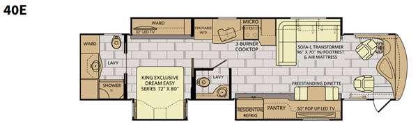 Discovery 40E Floorplan Image