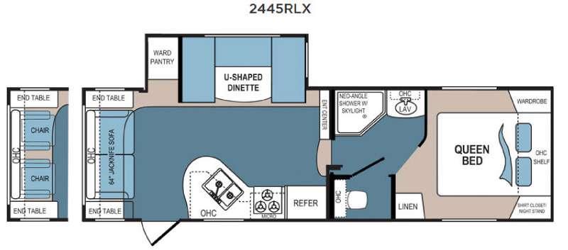 Denali Lite 2445RLX Floorplan Image