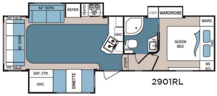 Denali Lite 2901RL Floorplan Image