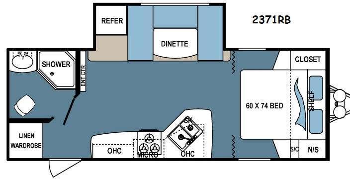 Denali Lite 2371RB Floorplan Image