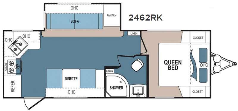 Denali Lite 2462RK Floorplan Image