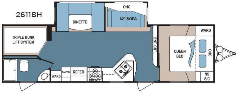 Floorplan - 2017 Dutchmen RV Denali Lite 2611BH