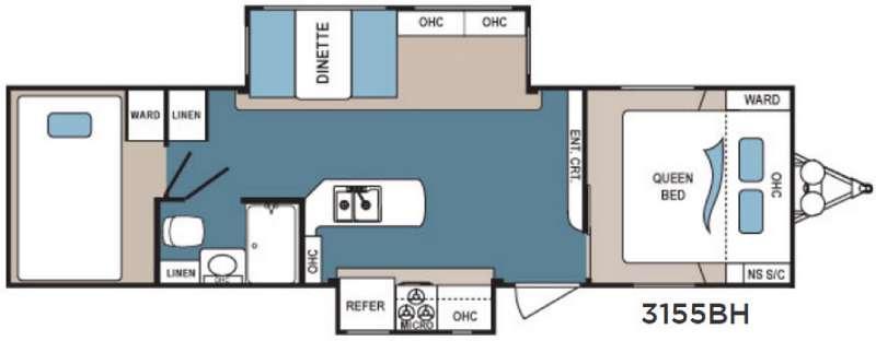 Denali Lite 3155BH Floorplan Image
