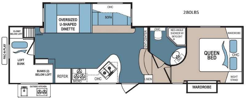 Floorplan - 2017 Dutchmen RV Denali 280LBS