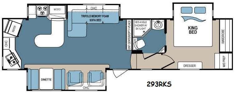 Denali 293RKS Floorplan Image