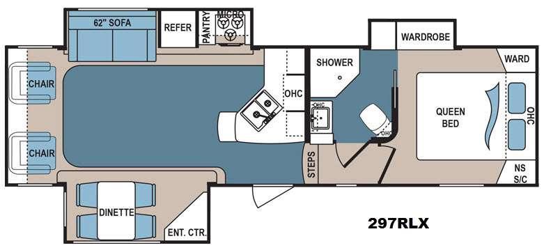 Denali 297RLX Floorplan Image