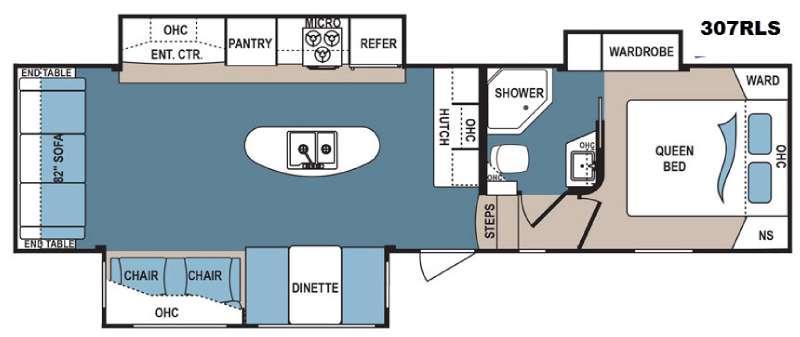 Denali 307RLS Floorplan Image