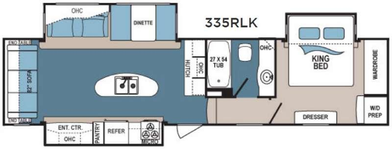 Floorplan - 2017 Dutchmen RV Denali 335RLK