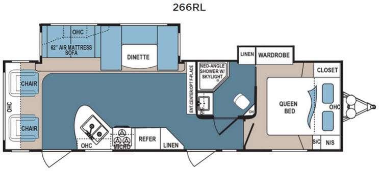 Denali 266RL Floorplan Image