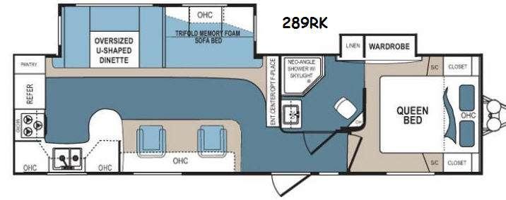 Denali 289RK Floorplan Image