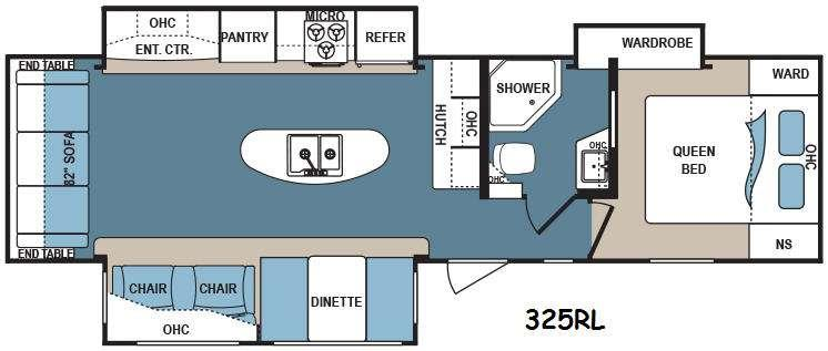 Floorplan - 2017 Dutchmen RV Denali 325RL