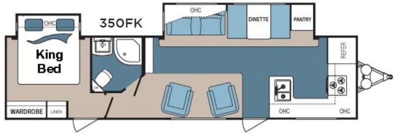 Denali 350FK Floorplan Image