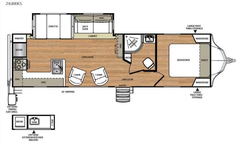 Floorplan - 2016 Forest River RV Vibe 268RKS