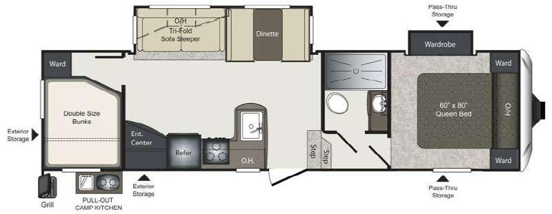 Laredo Super Lite 285SBH Floorplan Image