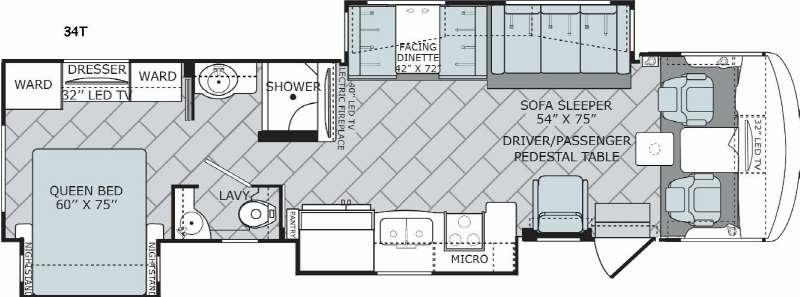 Vacationer 34T Floorplan Image