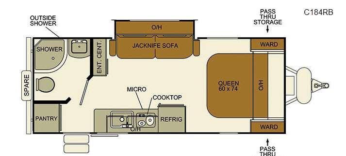 I-Go Cloud Series C184RB Floorplan Image