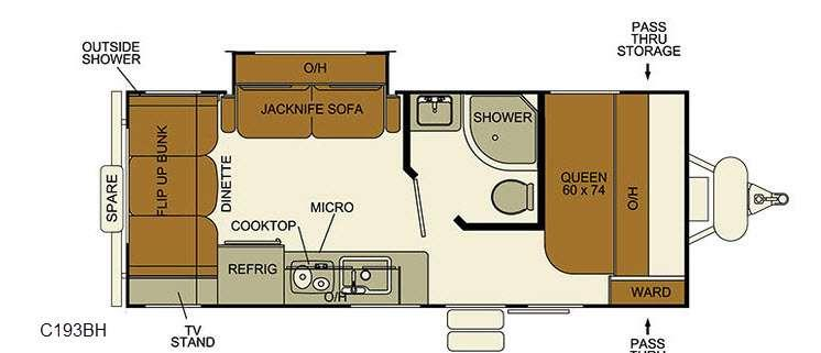 I-Go Cloud Series C193BH Floorplan Image