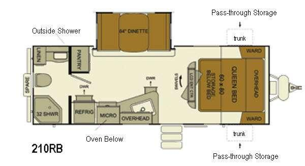 I-Go Cloud Series C210RB Floorplan Image