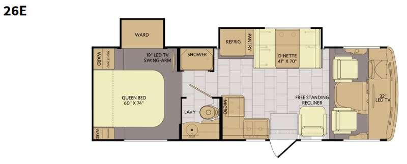 Flair 26E Floorplan Image