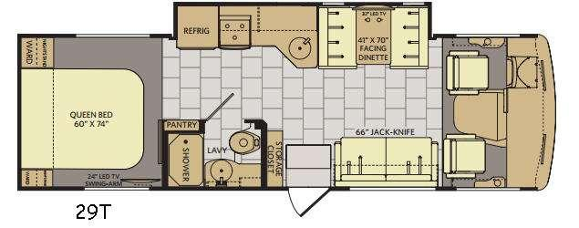 Flair 29T Floorplan Image