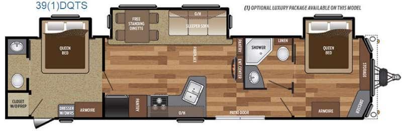 Retreat 391DQTS Floorplan Image