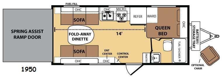 Razorback 1950 Floorplan Image