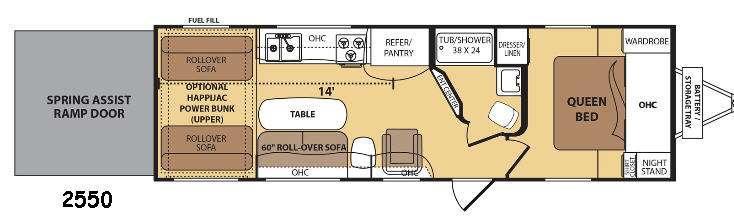 Razorback 2550 Floorplan Image