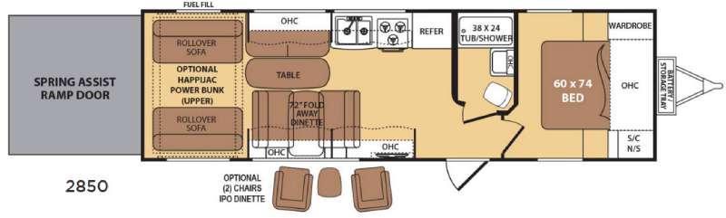 Razorback 2850 Floorplan Image