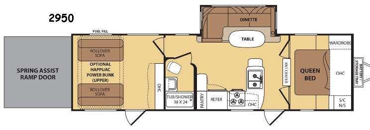 Razorback 2950 Floorplan Image