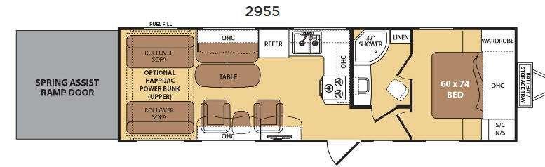Razorback 2955 Floorplan Image