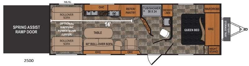 Floorplan - 2017 Dutchmen RV Rubicon 2500