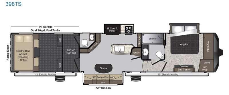 Floorplan - 2017 Keystone RV Raptor 398TS