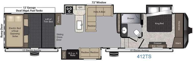 Raptor 412TS Floorplan Image