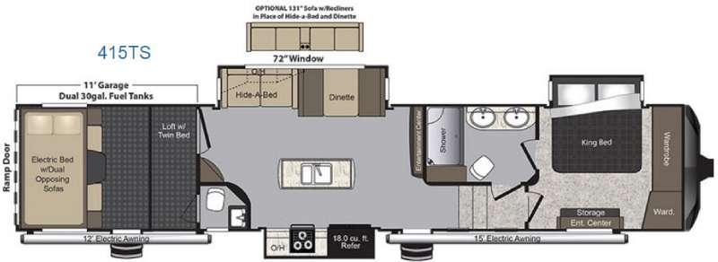 Raptor 415TS Floorplan Image