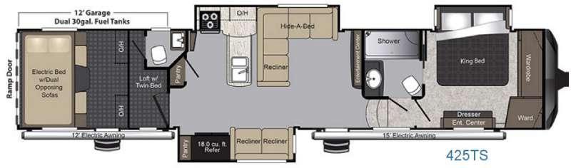 Raptor 425TS Floorplan Image