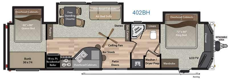 Residence 402BH Floorplan Image
