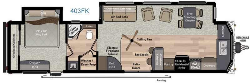 Residence 403FK Floorplan Image