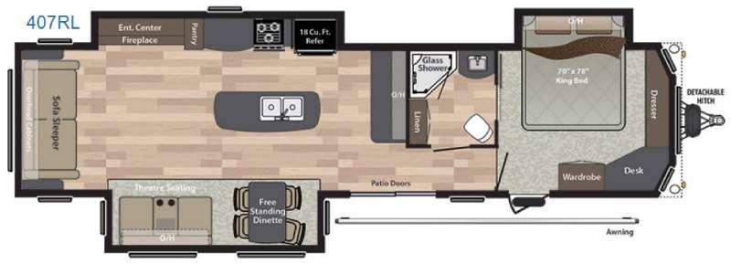 Residence 407RL Floorplan Image