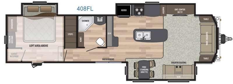 Residence 408FL Floorplan Image