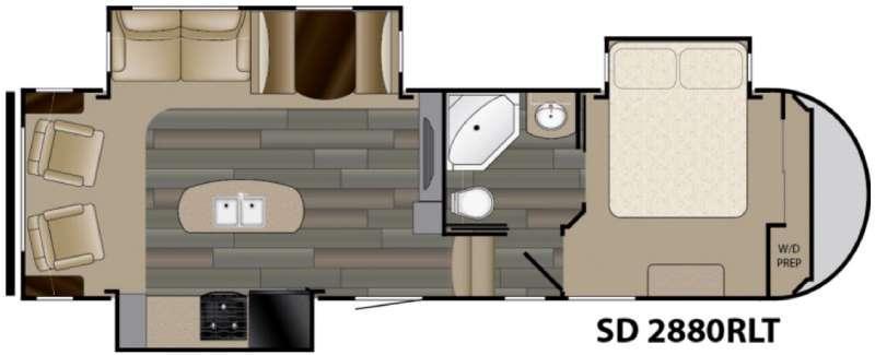 Sundance 2880RLT Floorplan Image