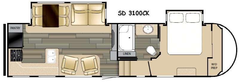 Sundance 3100CK Floorplan Image