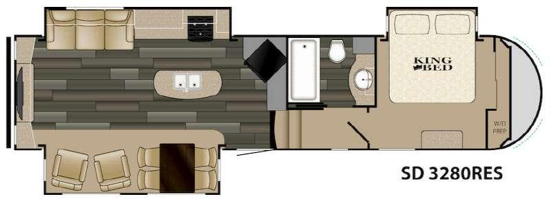 Sundance 3280RES Floorplan Image